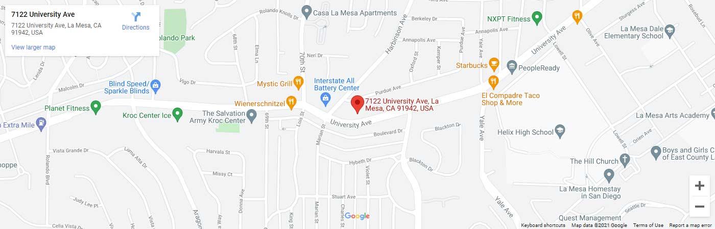 Smiles of La Mesa map